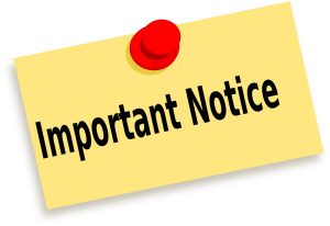 Importance Notice