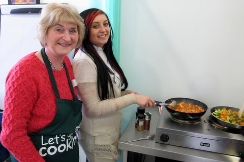 seniors cooking with youth