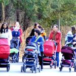 walking group photo