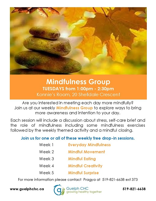 Mindfulness Group Poster Fall 2016